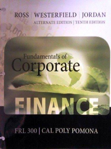 9780077694883: Fundamentals of Corporate Finance Volume 1 (FRL 300 - Cal Poly Pomona)