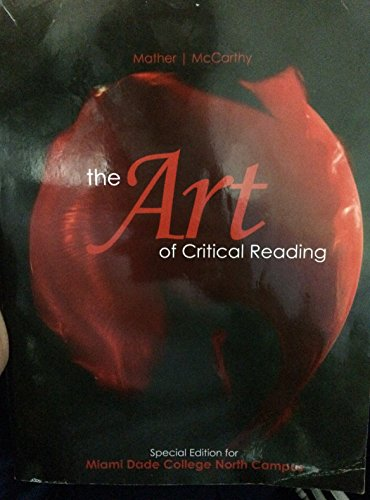 9780077696764: ART OF CRITICAL READING SPECIAL ED. FOR MDC N. CAMPUS