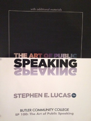 9780077698331: The Art of Public Speaking (Butler County Community College)