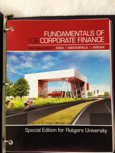 9780077698768: Fundamental of Corporate Finance( Special Edition for Rutgers)
