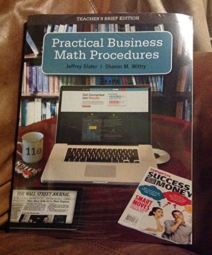 9780077700058: Practical Business Math Procedures Teacher's Brief Edition w/CD and Business Math Handbook