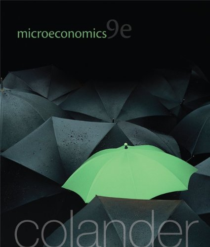 Microeconomics [Paperback] [Sep 24, 2012] Colander, David