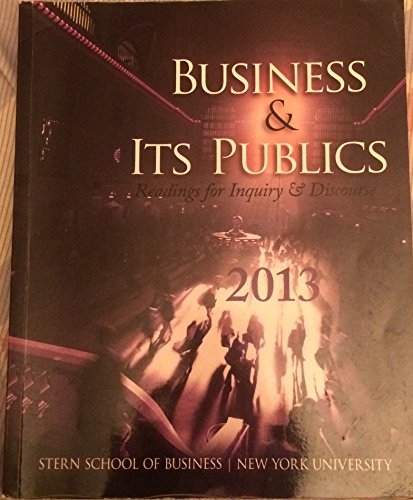 9780077717841: Business & Its Publics: Readings for Inquiry & Discourse.