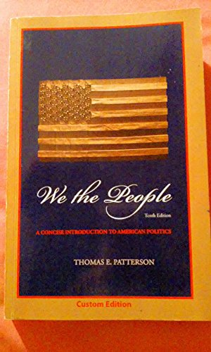 9780077719685: We the People: A Concise Introduction to American Politics