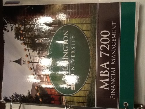 9780077719722: Financial Management (MBA 7200 (Wilmington University))