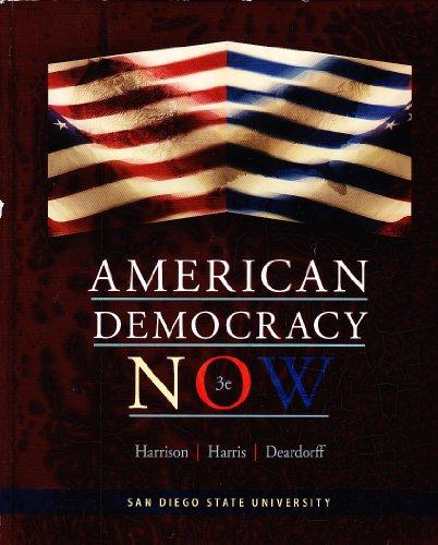 9780077720124: American Democracy Now 3e San Diego State University