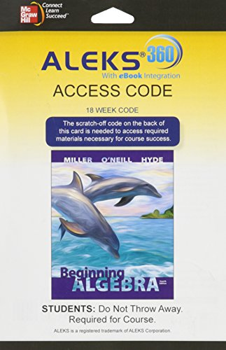 9780077728366: ALEKS 360 Access Card (18 weeks) for Beginning Algebra