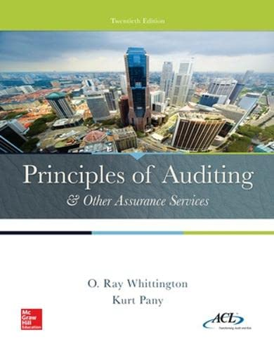 9780077729141: Principles of Auditing & Other Assurance Services (Irwin Accounting)