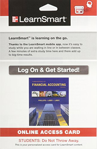 9780077731625: LearnSmart Access Card for Fundamentals of Financial Accounting