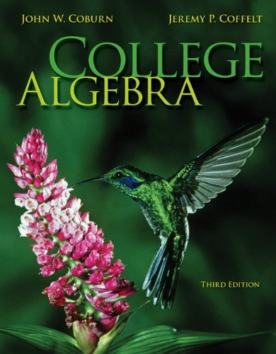 College Algebra with Connect Hosted by ALEKS: Coburn, John; Coffelt,
