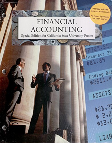 9780077733148: Financial Accounting (Special Edition for Calif. State Univ. Fresno)