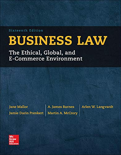 9780077733711: Business Law