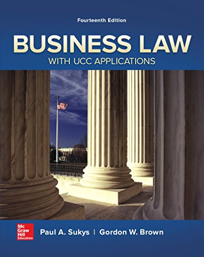 9780077733735: Business Law with UCC Applications (Irwin Business Law)