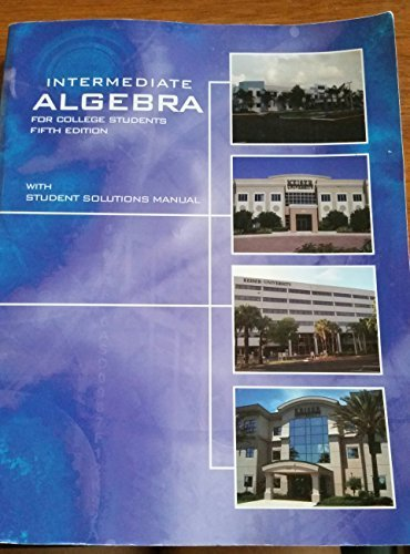 Intermediate Algebra For College Students Dvd Combo, Fifth Edition (Keiser University): Streeter, ...