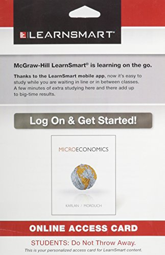 9780077734305: LearnSmart Access Card for Microeconomics