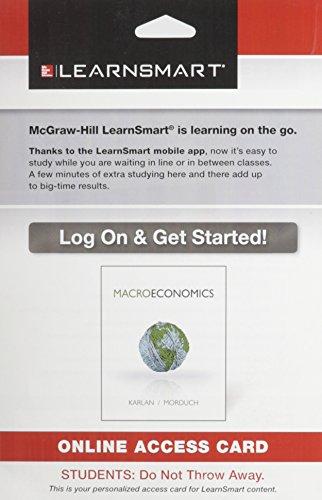 9780077734343: LearnSmart Access Card for Macroeconomics