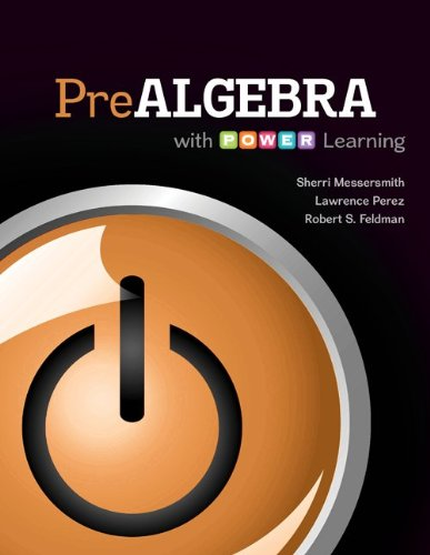 Prealgebra with P.O.W.E.R. Learning with Connect hosted by ALEKS 52 Weeks Access Card: Messersmith,...