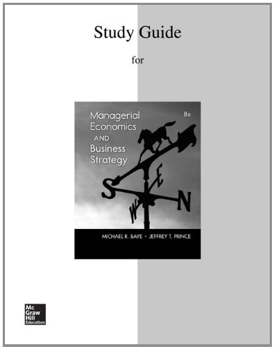 9780077735647: Study Guide to accompany Managerial Economics & Business Strategy