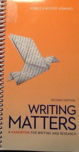 9780077738679: Writing Matters