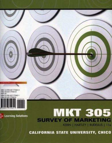 9780077755621: MKT 305 Survey of Marketing - California State University, Chico