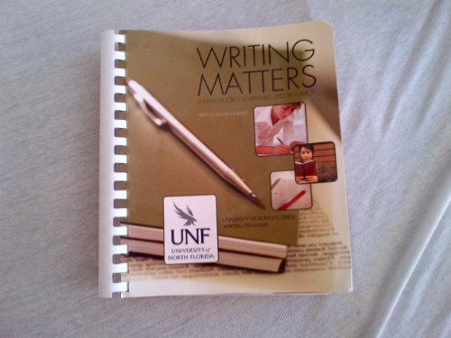 9780077755881: Writing Matters: A Handbook for Writing and Research (for UNF)