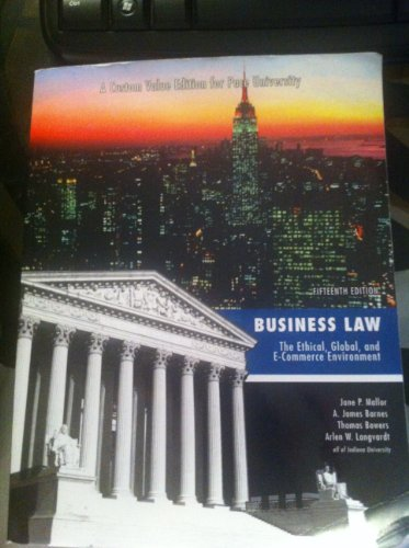 9780077757939: Business Law: The Ethical, Global, and E-Commerce Environment, 15th Edition, Pace University custom value edition