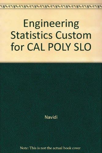 9780077757960: Engineering Statistics Custom for CAL POLY SLO