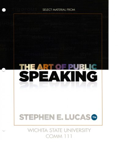9780077759780: Select Material From The Art of Public Speaking, Eleventh Edition Wichita State University, COMM 111