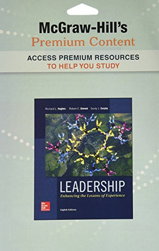 9780077760588: Premium Content Code Card for Leadership