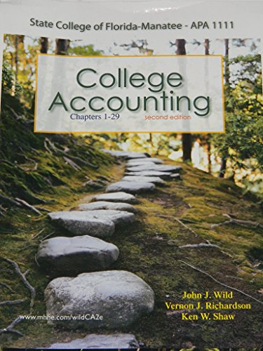 9780077761295: College Accounting, 2nd Edition Custom Edition for State College of Florida APA 1111