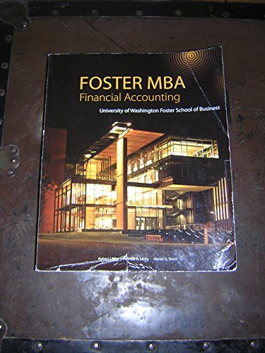9780077762025: Foster MBA Financial Accounting
