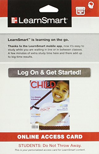 9780077763640: LearnSmart Access Card for Child M Series