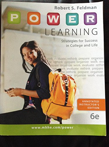 9780077766467: P.O.W.E.R. Learning: Strategies for Success in College and Life