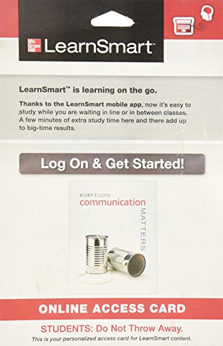 9780077767020: LearnSmart Access Card for Communication Matters