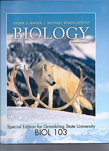 9780077770860: Biology Biol 103 Grambling State [Hardcover] [Jan 01, 2013] MADER ...