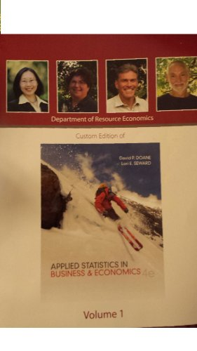 9780077770976: Custom Edition of Applied Statistics in Business & Economics, Fourth Edition Volume 1