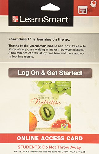 9780077774172: LearnSmart Access Card for Wardlaw's Perspectives in Nutrition