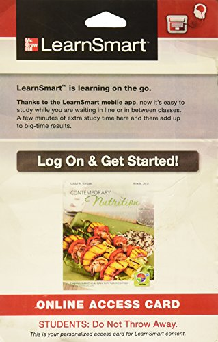 9780077774219: LearnSmart Access Card for Contemporary Nutrition