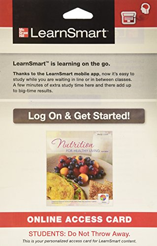 9780077774240: LearnSmart Access Card for Nutrition for Healthy Living