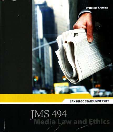 9780077775605: San Diego State University JMS 494 Media Law and Ethics