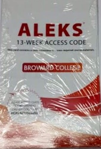 9780077776558: Aleks for Math 13 Week Student Access Code for Broward College
