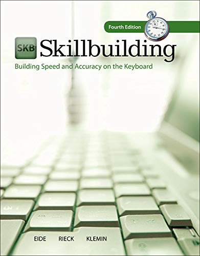 9780077776589: Skillbuilding: Building Speed & Accuracy On The Keyboard with Software Registration Card