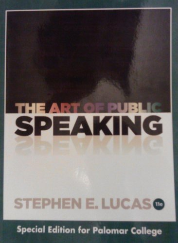 9780077778491: The Art of Public Speaking: Palomar College Edition