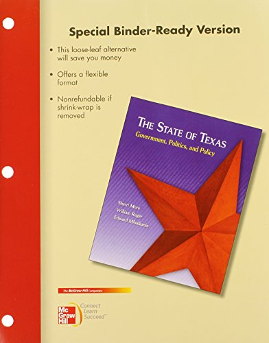 9780077781804: Looseleaf for The State of Texas with Connect Plus