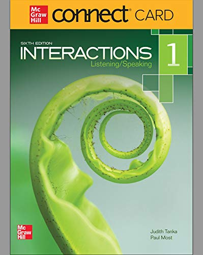 9780077783051: Interactions Level 1 Listening/Speaking Student Registration Code for Connect ESL (Stand Alone)