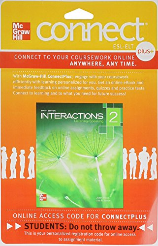 9780077783075: Connect Access Card for Interactions 2 Listening/Speaking