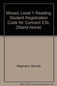 9780077783082: Mosaic Level 1 Reading Student Registration Code for Connect ESL (Stand Alone)