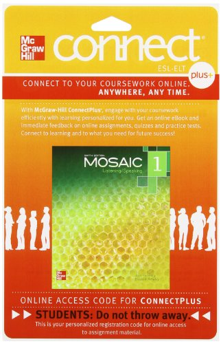 9780077783099: Mosaic Level 1 Student Registration Code for Connect ESL (Stand Alone)