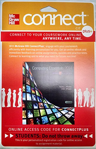 9780077791490: Connect Plus with LearnSmart Access Card for Computing Essentials 2014 Complete