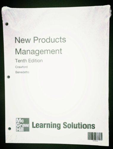 9780077792763: New Products Management (New Products Management 10th Edition)